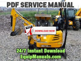 JCB Micro, Micro Plus, 8008, 8010 Excavator