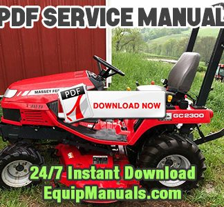 Massey Ferguson GC2300 PDF