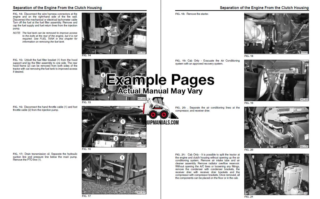 service manual sample page