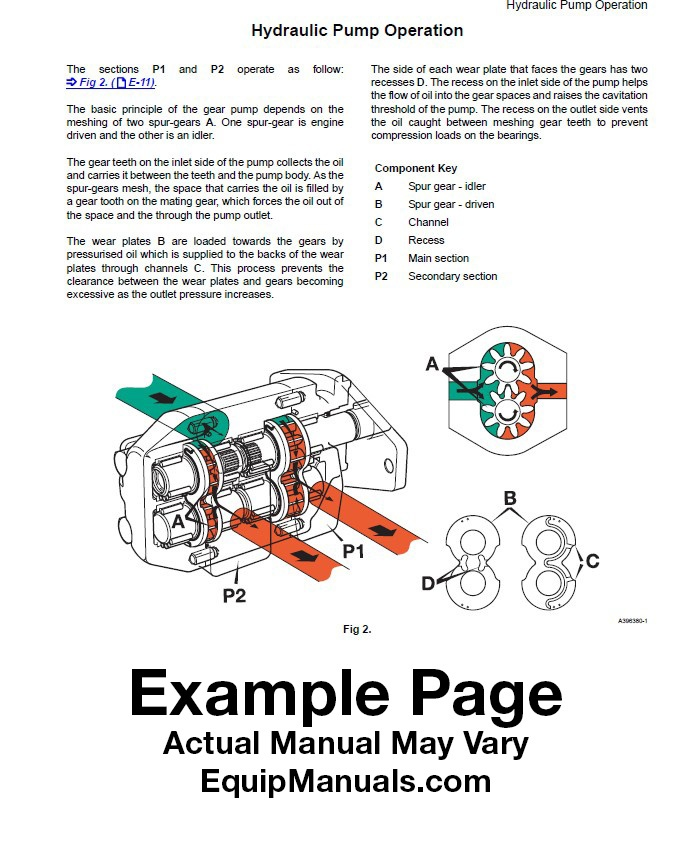 JCB Service Manual Sample Page