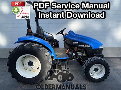 New Holland TC35, TC35D, TC40, TC40D, TC45, TC45D Tractor Service ManualEquipManuals
