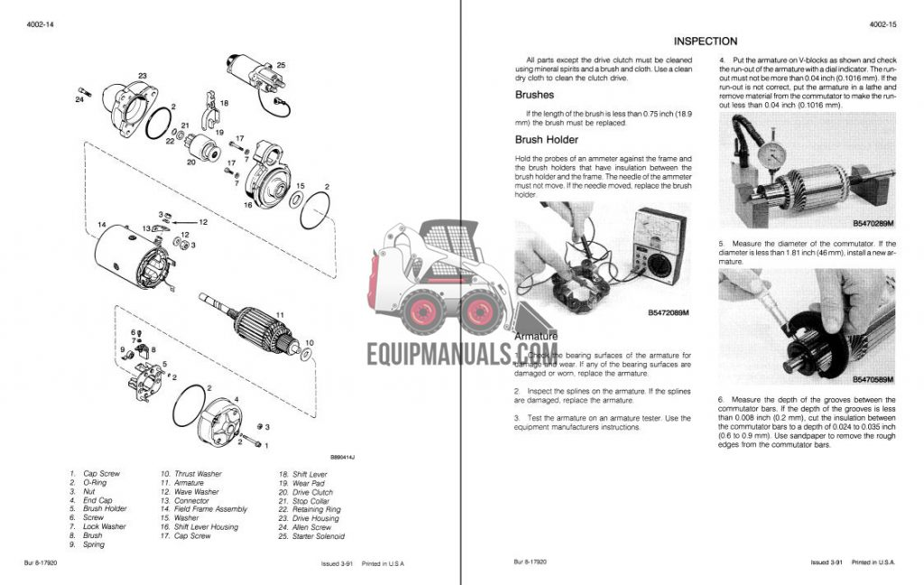 Case 721 Wheel Loader Service Manual Sample Pages