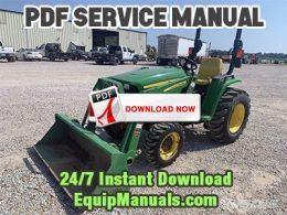 John Deere 3032E, 3036E, 3038E Tractor