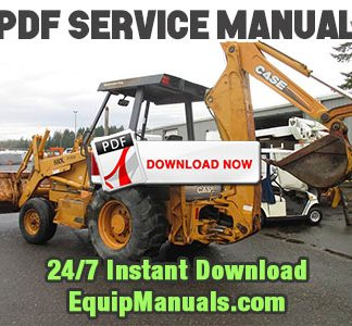 Case 580L, 580SL, 590SL Series 2 Backhoe