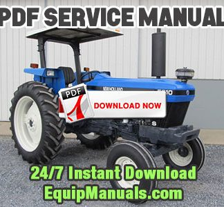 New Holland 5610S, 6610S, 7610S, 7010, 8010 Tractor