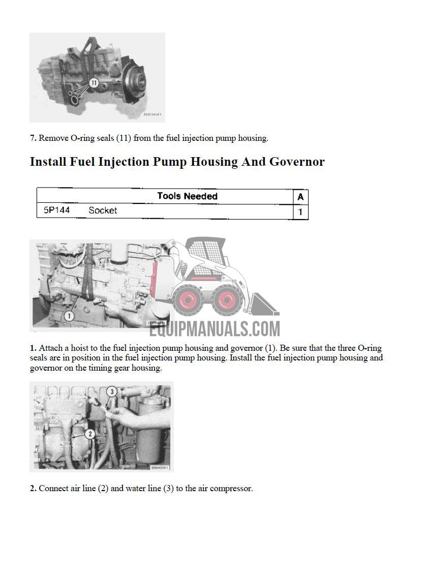 sample page 3406B shop manual