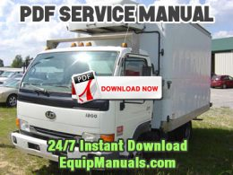 1999-2003 Nissan UD 1200, 1400 Truck