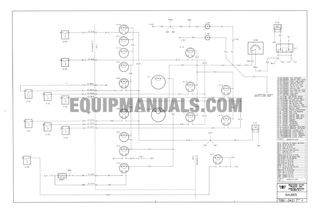 Western Star Truck Electrical System Troubleshooting Wiring Manual Schematic Starter Alternator Diagnostic