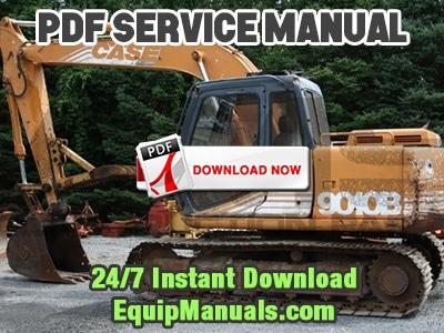 Case 9010b Excavator Service Manual